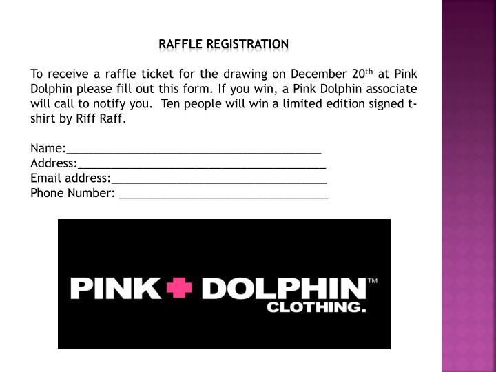 Raffle Registration