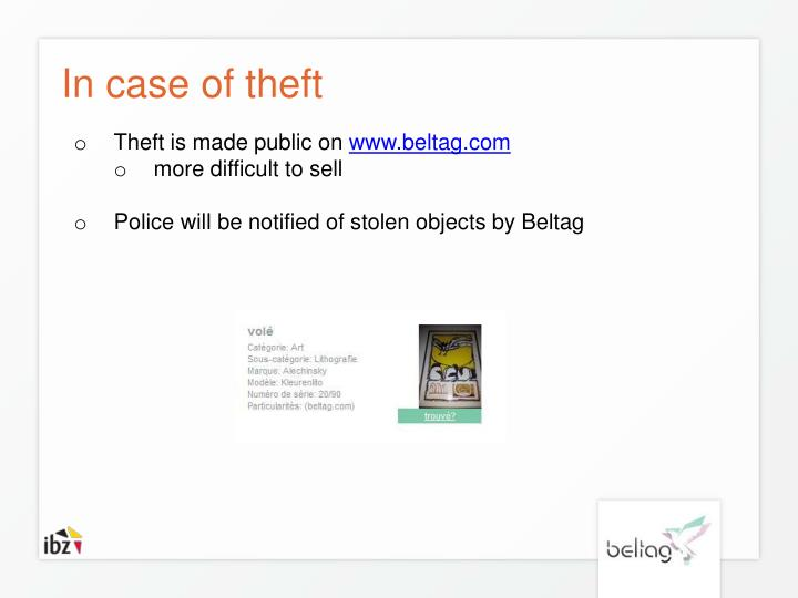 In case of theft