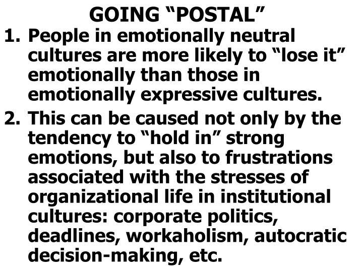 "GOING ""POSTAL"""