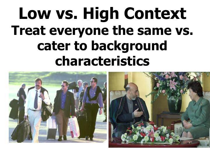Low vs. High Context
