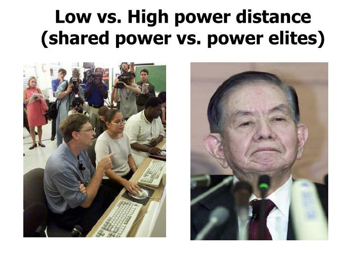 Low vs. High power distance