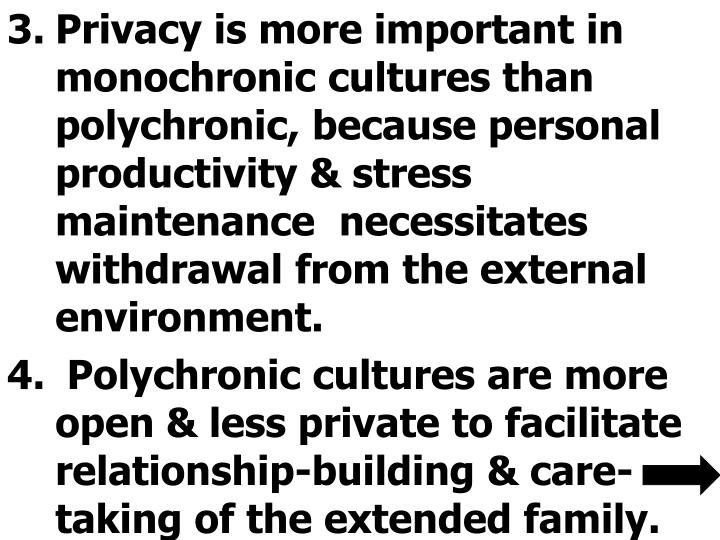 Privacy is more important in