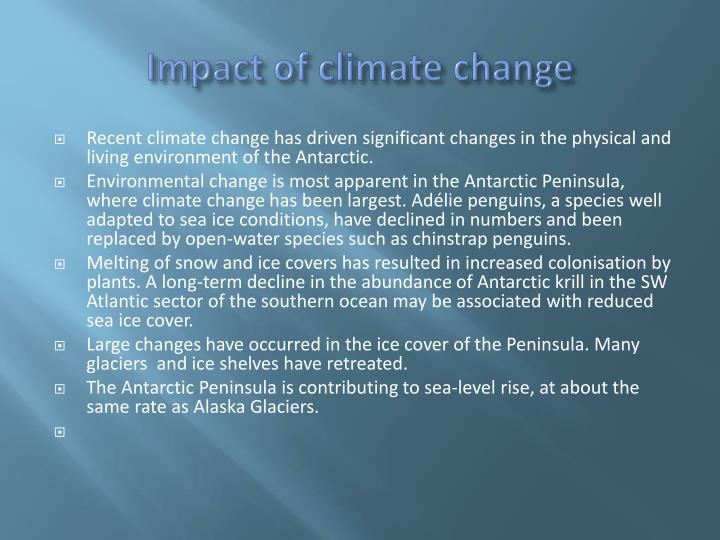 Impact of climate change