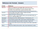 reference list formats answers