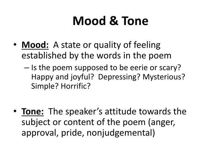 the raven mood and tone