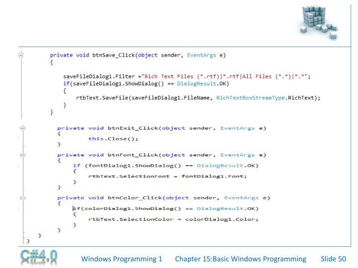 Windows Programming 1
