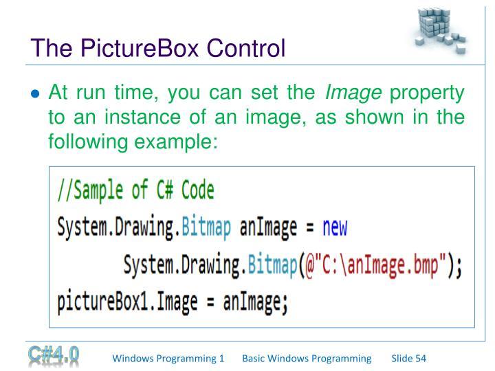 The PictureBox