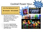 cocktail power hour