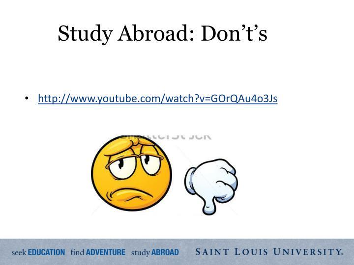 Study Abroad: