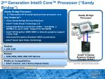 2 nd generation intel core processor sandy bridge
