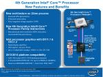 4th generation intel core processor new features and benefits