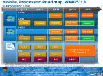mobile processor roadmap ww05 13 u processor line