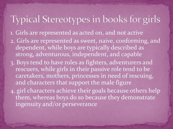 Typical Stereotypes in books for girls