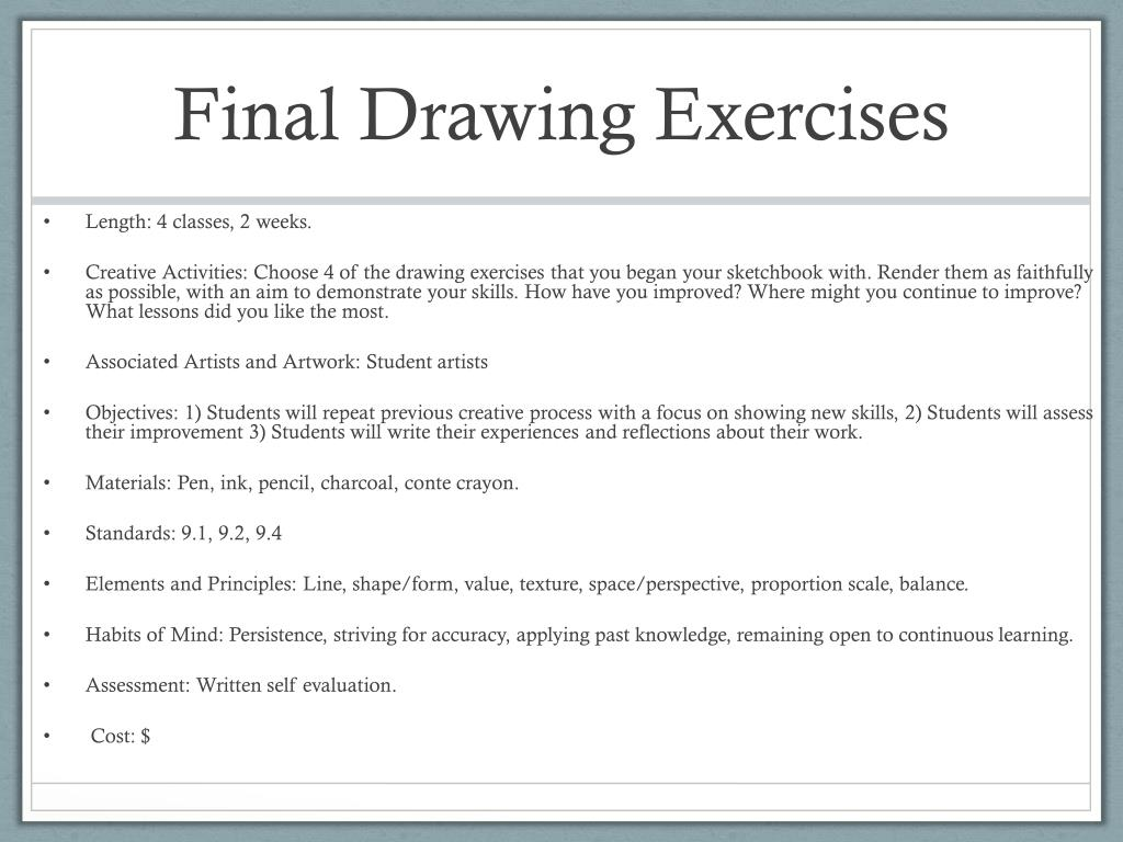 PPT - Self Discovery Sketchbook Curriculum PowerPoint Presentation
