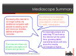 mediascope summary