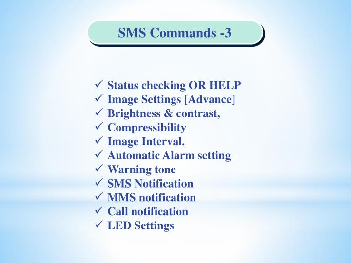 SMS Commands -3