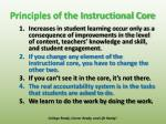 principles of the instructional core