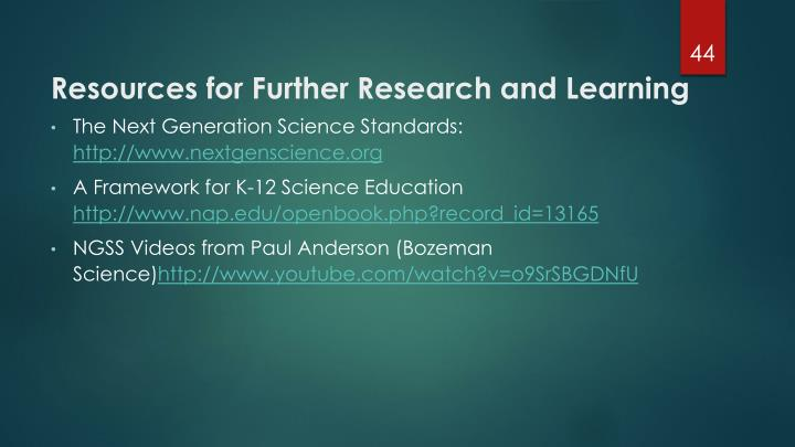 Resources for Further Research and Learning