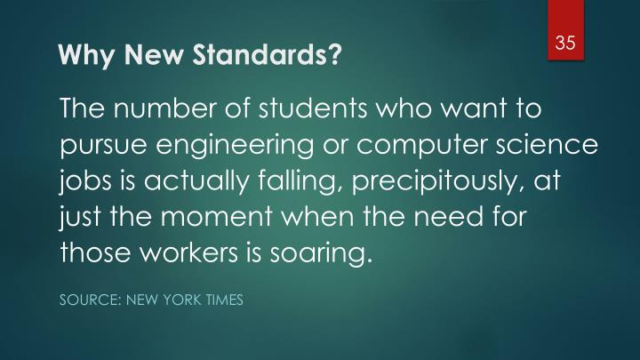 Why New Standards?