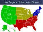 key regions of the united states
