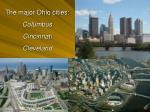 the major ohio cities columbus cincinnati cleveland