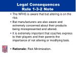 legal consequences rule 1 3 2 note