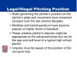 legal illegal pitching position