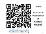 demo private set intersection on android devices