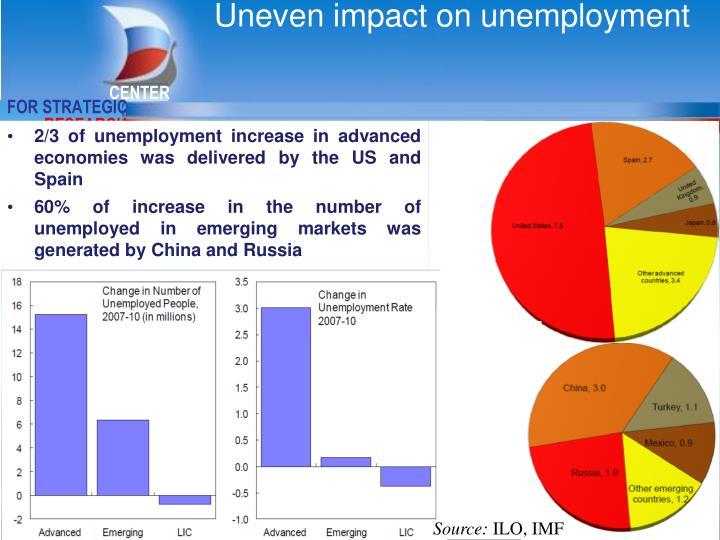 Uneven impact on unemployment