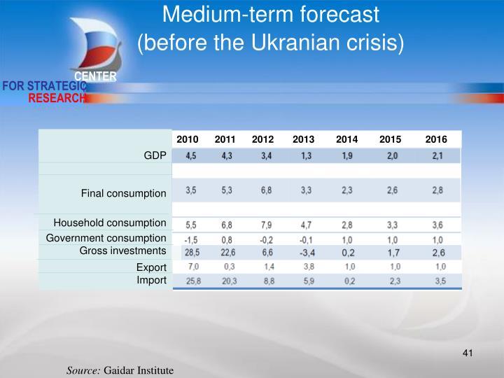 Medium-term forecast