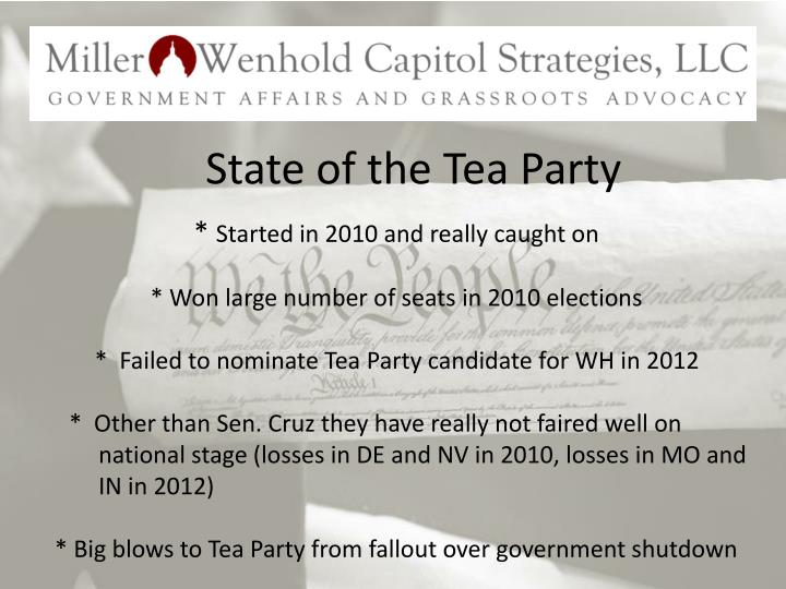 State of the Tea Party