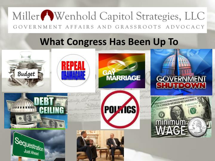 What Congress Has Been Up To