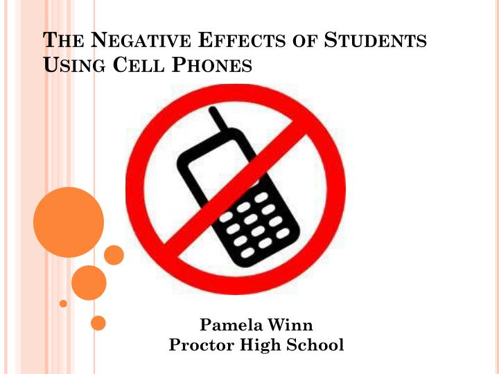 effects of usng cellphone of the