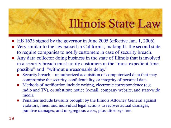 Illinois State Law
