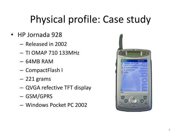 Physical profile case study