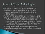 special case anthologies