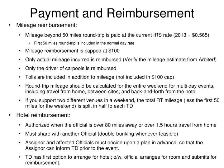 Payment and Reimbursement