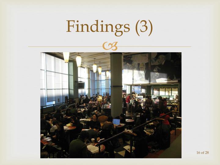 Findings (3)