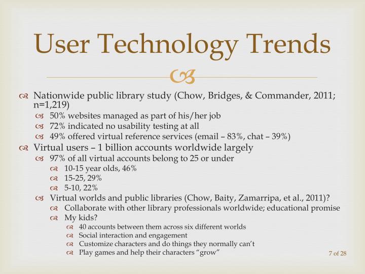 User Technology Trends
