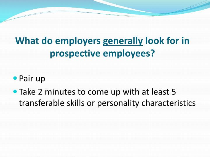 What do employers