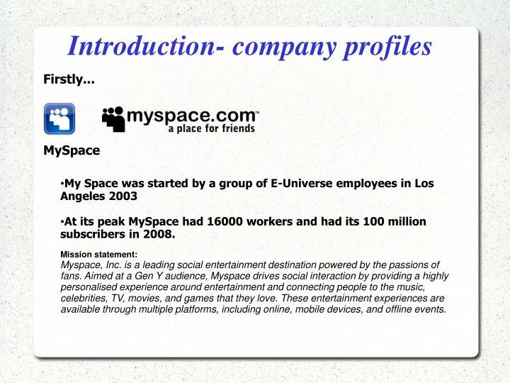 Introduction company profiles