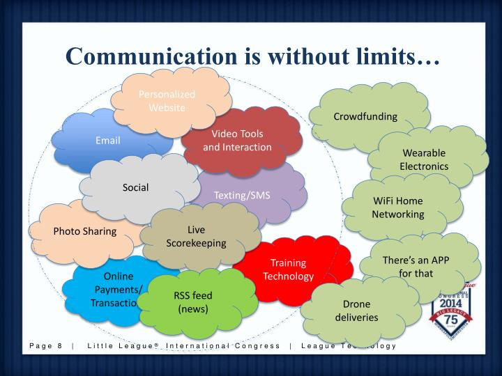 Communication is without limits…