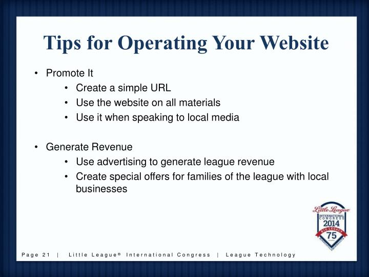 Tips for Operating Your Website