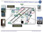 nasa cleveland test bed aeromacs network layout