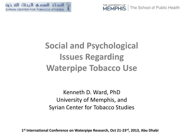 Kenneth d ward phd university of memphis and syrian center for tobacco studies