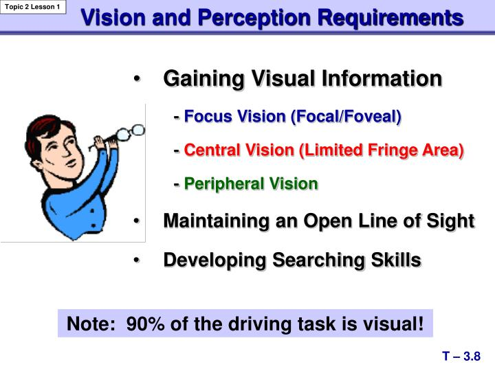 Vision and Perception Requirements