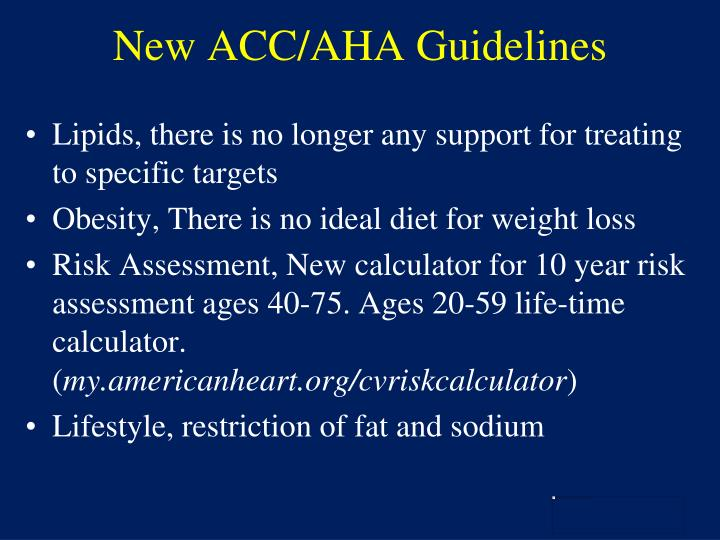 New ACC/AHA Guidelines