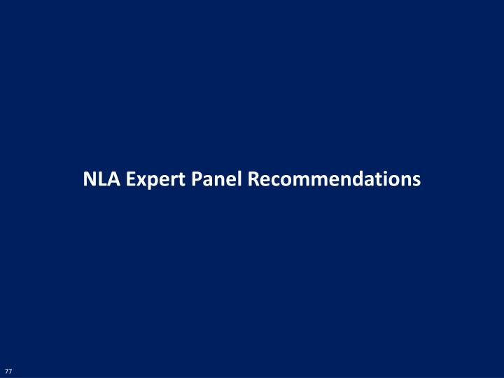 NLA Expert Panel Recommendations