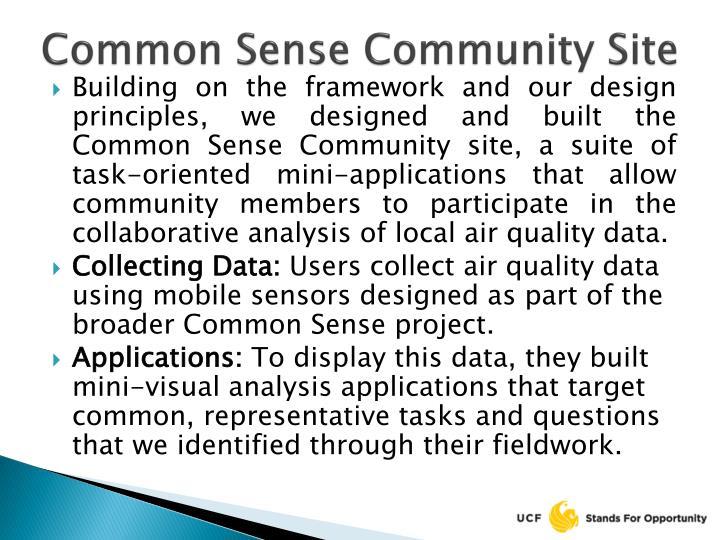 Common Sense Community Site