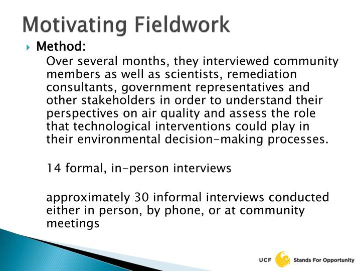 Motivating Fieldwork